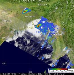 NASA satellite data animation shows cyclone Bijli's rainfall from birth to death