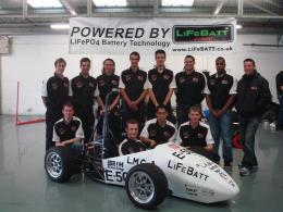 First Completely Electric Formula Student Racing Car