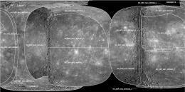 MESSENGER team releases first global map of mercury