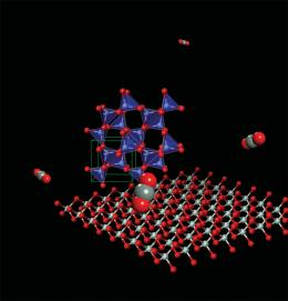 Carbon dioxide forms polymeric materials under high pressure
