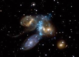 A Galaxy Collision in Action