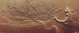 Mars: Chaotic terrain between Kasei Valles and Sacra Fossae