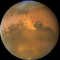 A view of Mars from the Hubble Space Telescope