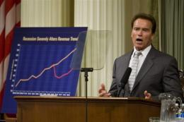 California Governor Arnold Schwarzenegger wants to slash spending across a range of sectors