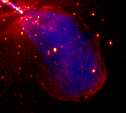 Chandra Shows Shocking Impact of Galaxy Jet
