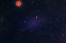 Dust around a primitive star sheds new light on universe's origins