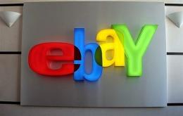 Ebay logo at Ebay-France headquarters in Paris