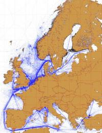 ESA map reveals European shipping routes like never before