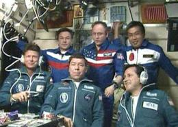 Expedition 19 Crew Docks with Space Station