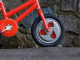 Gyrowheel to keep new bike riders upright