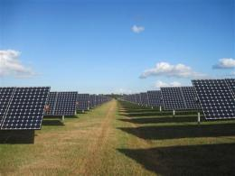Largest solar panel plant in US rises in Fla. (AP)