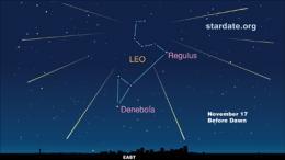 Leonid meteor shower peaks Tuesday, Nov. 17
