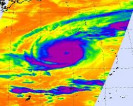 NASA captures Typhoon Nida's clouds from 2 angles