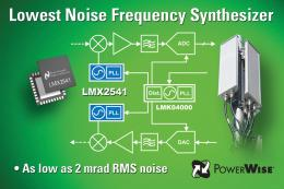 National Semiconductor Introduces Industry's Lowest-Noise Frequency Synthesizer
