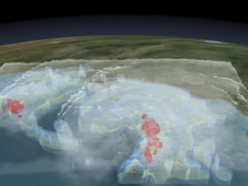 New NASA 3-D Video Shows Thunderstorms in Tropical Storm Ida