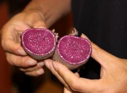 Purple sweet potato means increased amount of anti-cancer components