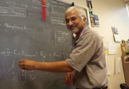 Ravi Pandey at the blackboard