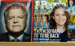Recent copies of Time and People magazines