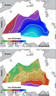 Satellites and submarines give the skinny on sea ice thickness