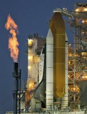 Shuttle fueled, Colbert gives launch a 'go' (AP)
