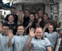 Shuttle, space station crews part after 8 days (AP)