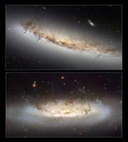 Stripped down: Hubble highlights 2 galaxies that are losing it