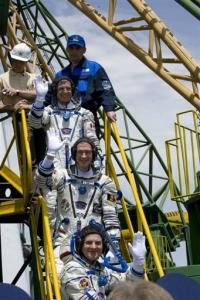 The astronauts will hurtle into low Earth orbit and then make a gradual ascent to the station