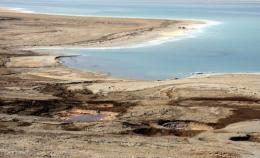 The drying shores of the Dead Sea
