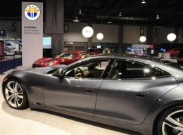 The Fisker Karma plug-in hybrid car