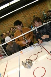 The goal of robot hockey: to become better engineers
