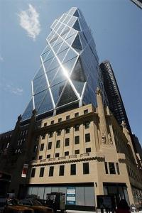The Hearst Tower stands  in June 2006 in New York City