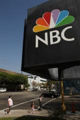 The logo of NBC studios in Burbank, California