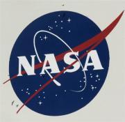 The NASA logo seen at Kennedy Space Center