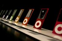 The new iPod Nano is displayed during an Apple special event