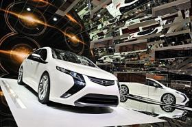 The new Opel Ampera hybrid-electric vehicle