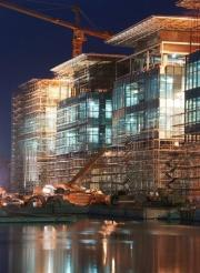 The North Research Laboratory building under construction at King Abdullah University of Science and Technology (KAUST)