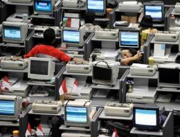 The stock exchange in Jakarta