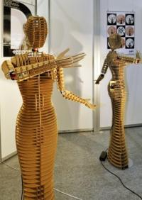 This curvaceous humanoid made of layers of cardboard is billed as the first eco-friendly robot