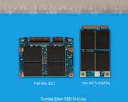 Toshiba Adds 32nm mSATA And Half-Slim Solid State Drive Modules