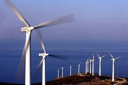 Turbines on a wind far