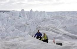 Warming ocean melts Greenland glaciers (AP)