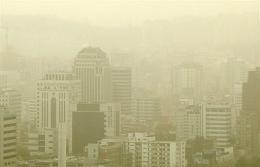 Yellow dust blowing over Seoul