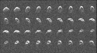 Features on asteroid revealed by radar