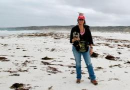 Climate scientist studies ancient shorelines