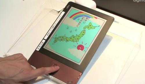 Fujitsu shows off a color LCD eReader