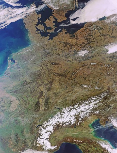 Earth from space: Central Europe
