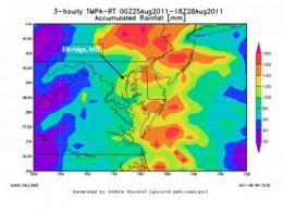 Goodnight Irene: NASA's TRMM Satellite adds up Irene's massive rainfall totals