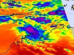 NASA sees Australian newborn Tropical Storm Errol's strongest T-storms off-shore