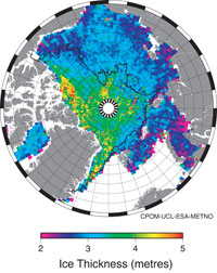 New CryoSat-2 satellite redraws Arctic sea-ice map