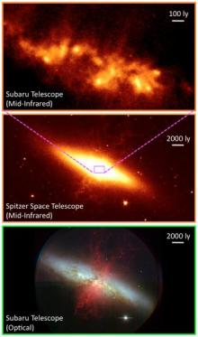 New look at Messier 82 reveals superwind source, young star clusters
